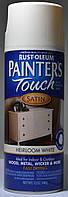 Эмаль универсальная алкидная RUST OLEUM Painter's Touch белая полуматовая, спрей 0,340