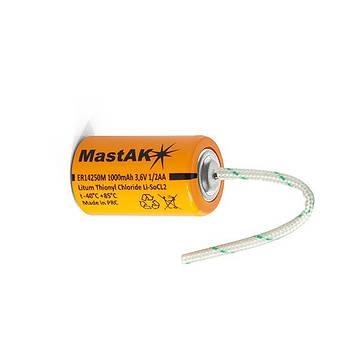 MastAK 1/2AA   Li-S0CI2 (3.6V 1000mAh)