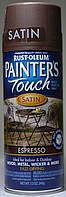 Эмаль универсальная алкидная RUST OLEUM Painter's Touch цвет эспрессо полуматовый, спрей 0,340