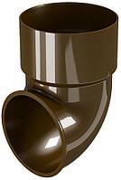 Колено сливное DEVOREX CLASSIC d.80 коричневый