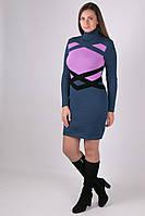 Вязаное женское платье туника Катерина