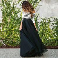 Длинная фатиновая юбка в пол