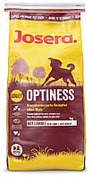 Корм Josera Optiness для взрослых собак средних и крупных пород. Беззерновой. Упаковка 4 кг