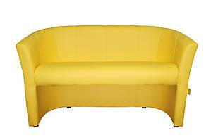 Диван Бум желтый двухместный 130 см