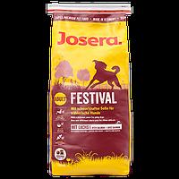 Корм Josera Festival с лососем и рисом для привередливых собак, гипоаллергенный. Упаковка 15 кг