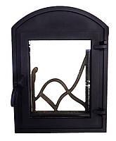 Чугунные каминные дверцы со стеклом- VVK 35 х 46 см/26х32см