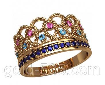 dd3880e02a2a Шикарное золотое кольцо-корона 585  пробы с Фианитами  продажа, цена ...