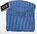 Теплая вязанная шапка  на флисе подросток, фото 4