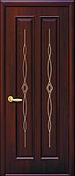 """Дверь межкомнатная глухая """"Стелла"""" Каштан - с гравировкой Gold (Новый стиль)"""