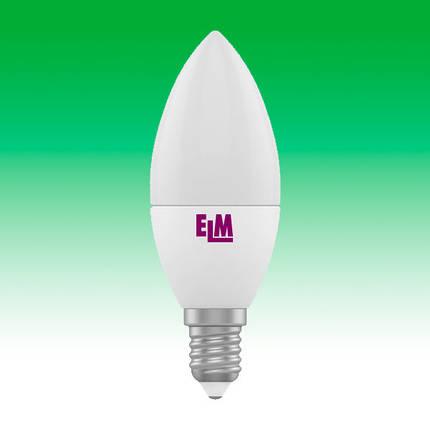 Светодиодная лампа LED 4W 4000K E14 ELM C37 (18-0017), фото 2