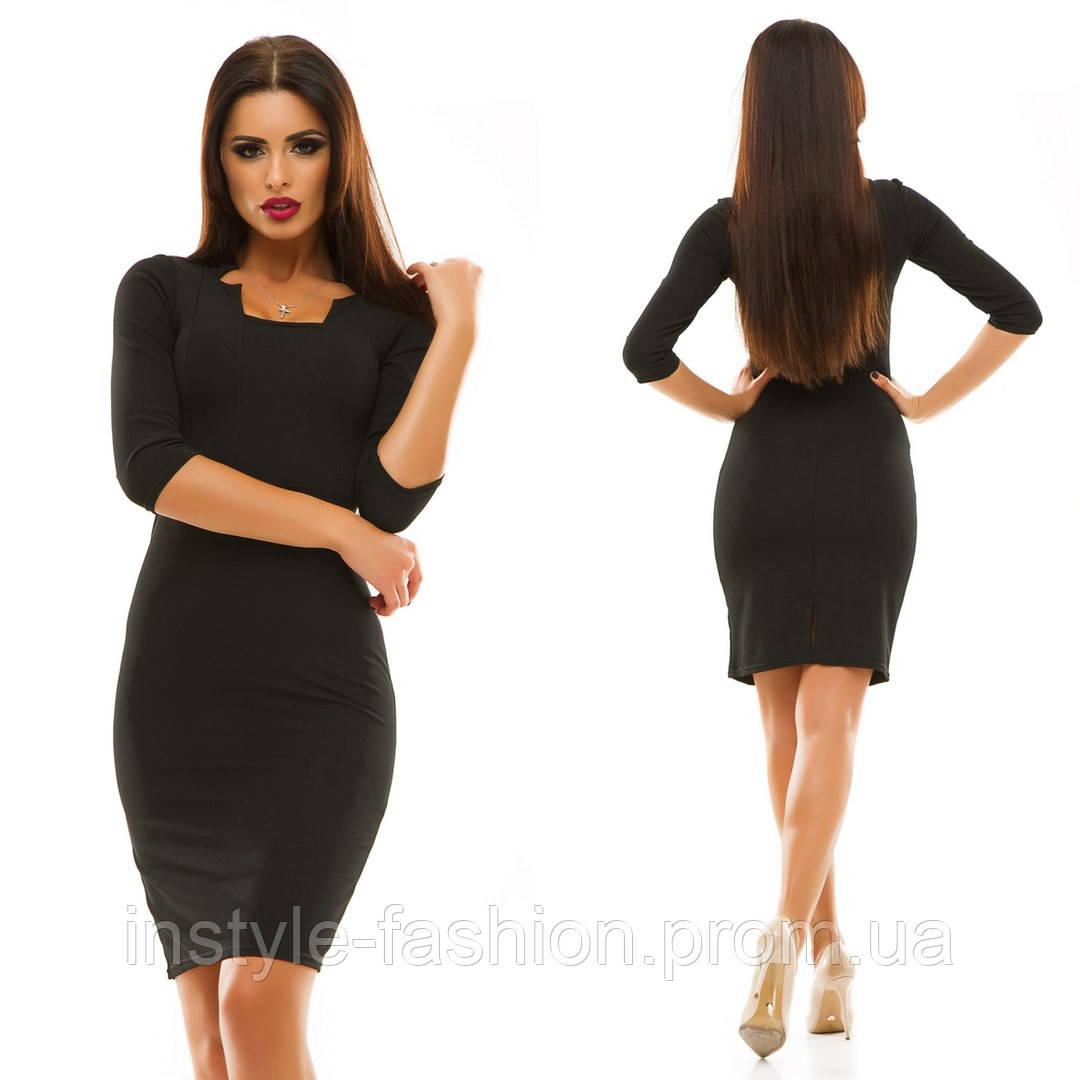 Женское повседневное платье ткань трикотаж Отто цвет черный