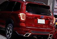 Subaru Forester SJ оптика задняя альтернативная ,фонари тюнинг диодные красные/ LED taillights red