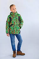 """Детская зимняя куртка """"Art green"""" для мальчика"""