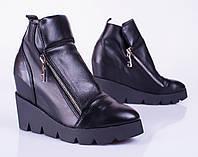 Женские кожаные ботинки, осень-весна