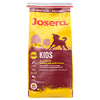 Корм Josera Kids для щенков и молодых собак средних и крупных пород. Упаковка 15 кг