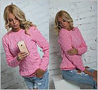 Теплый свитер женский