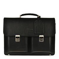 Кожаный мужской портфель BLAMONT Bn050 черный