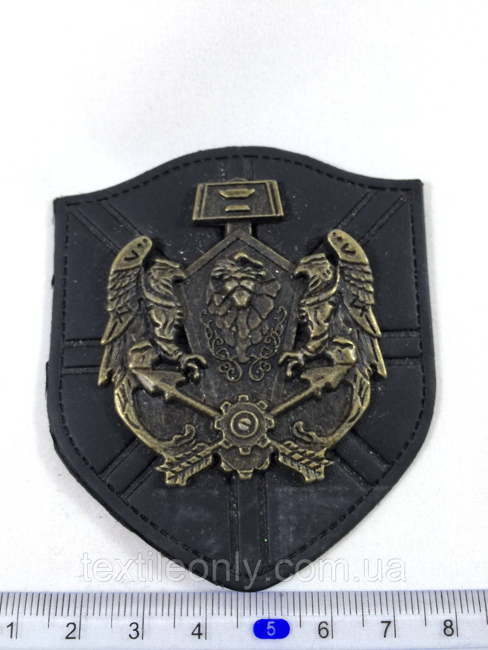 Нашивка герб грифоны , big черная