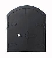 Стальные печные дверки (61х51)см (53 х 43)см, фото 1