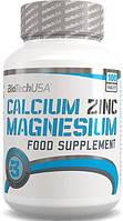 Кальций BioTech USA Calcium Zinc Magnesium 100 таблеток