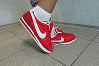 Кроссовки женские Найк красные (8207-3)  код 587А