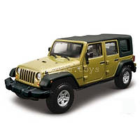 Автомодель JEEP WRANGLER UNLIMITED RUBICON зеленый металлик, тёмно-синий 1:32 Bburago (18-43012)
