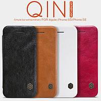 Кожаный чехол Nillkin Qin для iPhone 5 / 5S / SE (4 цвета)