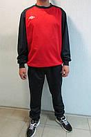 Мужской спортивный костюм Umbro 353113(291) красный с черным тренировочный код 321б
