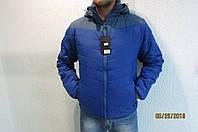 Мужская спортивная куртка Remain А-179 синяя с серым код 241б