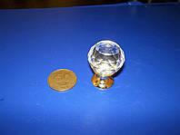 Ручка шарик под Swarovski 25мм золото