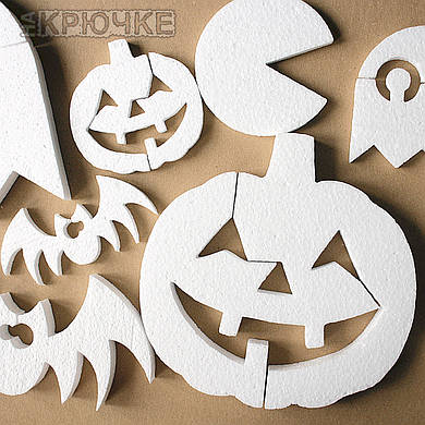 Декор на Хэллоуин набор пенопластовых формочек, 60 шт