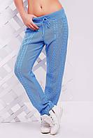 """Вязанные штаны """"LILI"""" 42-46 (голубой), фото 1"""