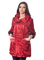 Бордовая женская куртка
