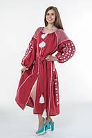"""Платье женское с вышивкой """"Зоряна ніч"""" вишня"""