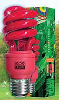 Лампа красная энергосберегающая декоративная HLSC T3 -  mini , красная 15 Вт