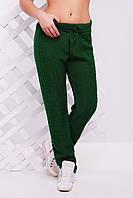 """Оригинальные вязанные женские  штаны """"LILI"""" 42-46 (зеленый)"""