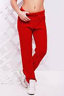 """Яркие вязанные женские  штаны """"LILI"""" 42-46 (красный), фото 1"""