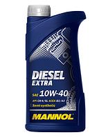 Моторное масло MANNOL 10W40 Diesel Extra 1L полусинтетика