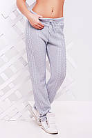 """Стильные вязанные женские  штаны """"LILI"""" 42-46 (светло-серый)"""