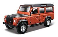 Автомодель LAND ROVER DEFENDER 110 белый, оранжевый металлик 1:32 Bburago (18-43029)