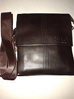 Стильная мужская коричневая сумка POLO