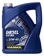 Моторное масло MANNOL 10W40 Diesel Extra 5L полусинтетика