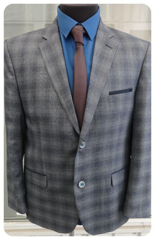 Мужской пиджак West-Fashion модель А-1007К серый
