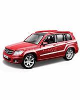 Автомодель MERCEDES BENZ GLK-CLASS красный, серебристый 1:32 Bburago (18-43016)