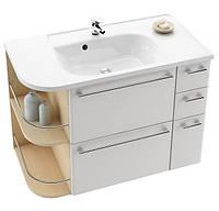 Шкафчик Praktik S правый белый/белый с ящиком для белья Равак Ravak