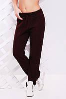 """Красивые вязанные женские  штаны """"LILI"""" 42-46 (марсала), фото 1"""