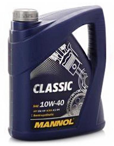 Моторное масло MANNOL 10W40 Classic 4L полусинтетика