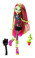 Кукла Венера МакФлайтрап  базовая с питомцем (Monster High Doll Venus McFlytrap Daughter of the Plant Monster)