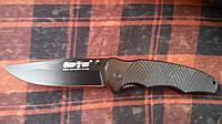 Нож складной черный ворон качественный перочинный. Оригинальное фото