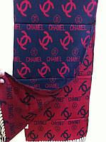 """Кашемировый двухсторонний брендовый шарф  """"CHANEL"""""""
